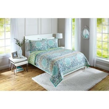 Better Homes and Gardens Layered Medallion Quilt - Walmart.com