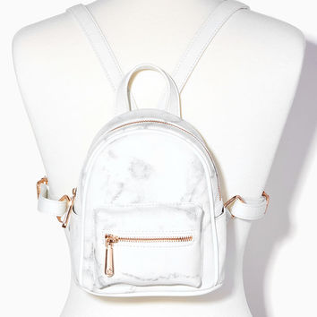 Marble & Rose Gold Mini Backpack