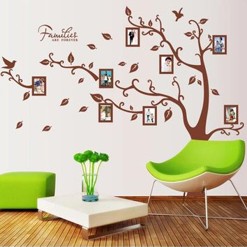 Big Family Tree Forever Photo Frame Wall Sticker