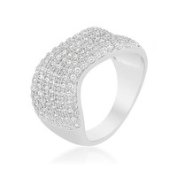 Micro-pave Winding Cocktail Ring, size : 06