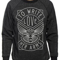 To Write Love On Her Arms Store - Dove Unisex Sweatshirt Heather Black