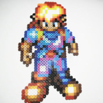 Alundra video game perler bead sprite - gamer gift - video game magnets - geekery gifts
