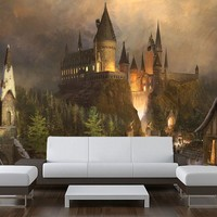Wall STICKER MURAL harry potter world Hogwarts decole poster 108x126""