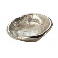 Plated Lava Aluminum Saucer Bowl
