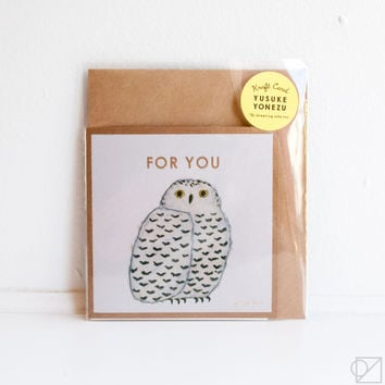 Yusuke Yonezu For You Owl Greeting Card