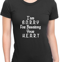 Adele Hello I Am Sorry For Breaking Your Heart Womens T Shirt