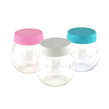 Round Plastic Favor Container w/ Lid, Small