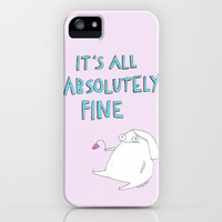 absolutely fine iPhone & iPod Case by Rubyetc
