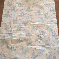 UPDATED (LOWER) Shipping - Sweet Vintage Shower Curtain - Pattern with Perfume Bottles - Excellent Condition