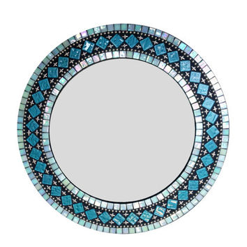 Shop Turquoise Wall Mirror On Wanelo
