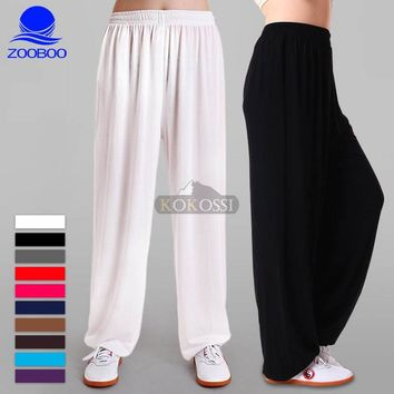 New Yoga Tai Chi Pants  Bloomers Trousers Fitness Dance Pants Kung Fu Cropped Pants Running Pants Men Women