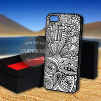 zentangle, monogram case for  LG Nexus/HTC One/Samsung Galaxy S3,S4,S5/Note 2,3/iPod 4th 5th/iPhone 5,5s,5c,4,4s,6,6+[ NJ9 ]