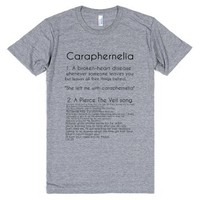 Caraphernelia-Unisex Athletic Grey T-Shirt