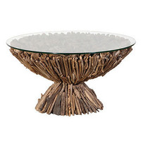 round driftwood coffee table by posh interiors | notonthehighstreet.com