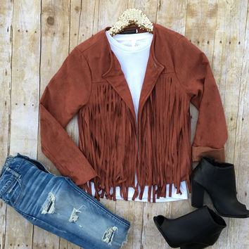 Brown Fringe Jacket