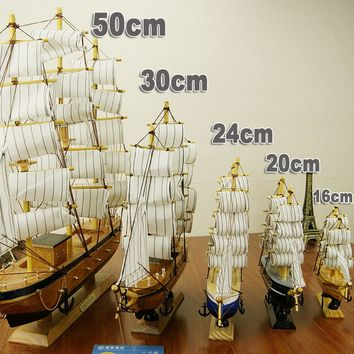 Creative Handcrafted Sailing Boat Model