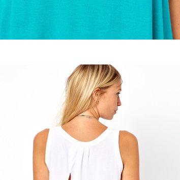 Wrap Back Sleeveless Top