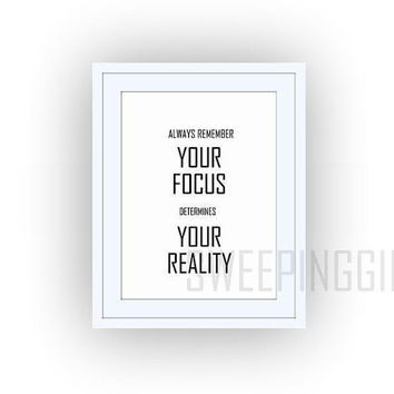 Star Wars quote, Your focus determines your reality, Printable Wall Art, movie quotes print, large small 4x6, 5x7 11x14 8x10, 8x12 16x20, A4