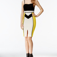 Material Girl Juniors' Colorblocked Bodycon Dress, Only at Macy's