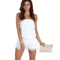 White Summer On My Mind Romper