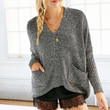 Glamorous Marled Pocket Sweater - Urban Outfitters