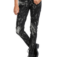 Royal Bones By Tripp Bleach Splatter Skinny Jeans