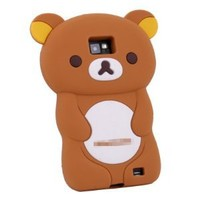 Brown Rilakkuma Bear 3D TPU Soft Silicone Case Cover for Samsung Galaxy S2 i9100 (not for sprint & T-mobile)