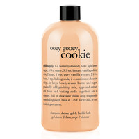 philosophy 3-in-1 ultra rich shampoo, shower gel & bubble bath, ooey gooey cookie fresh-baked cookie
