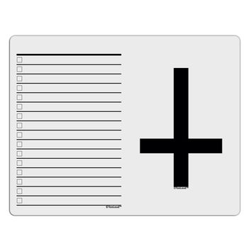 Inverted Cross To Do Shopping List Dry Erase Board