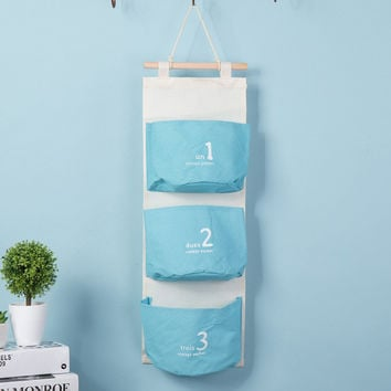 Sweets Cotton Linen Wall Mounting Storage Bags [6377497220]