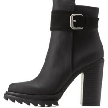 Belted Lug Sole Booties