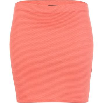 Coral textured mini tube skirt - skirts - sale - women