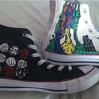 Hand painted Twenty One Pilots shoes