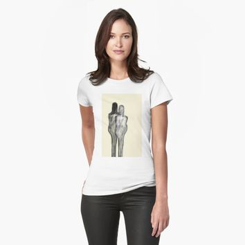 "'""etching 51 - walk with me"" Apple Pencil drawing' T-Shirt by BillOwenArt"