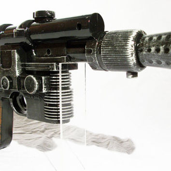 Star Wars Han Solo Disney costume gun blaster full size with sound