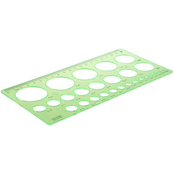 Affordable Amico Green Plastic Students Rectangle Shape Drawing Circle Template Ruler