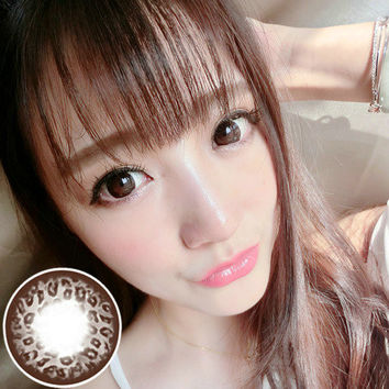 Circle lenses RT Rui pupil -  Large Leopard (Brown)