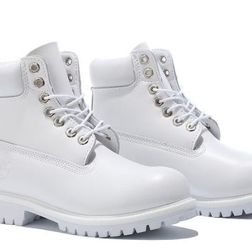 Timberland 10061 Anti Fatigue Outdoors Classic High Boot Shoes White
