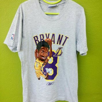 vintage kobe bryant reebok basketball legend lakers all star player t shirt  number 3