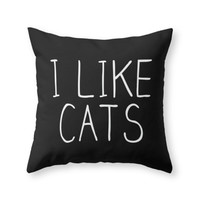 Society6 I Like Cats Throw Pillow
