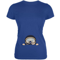 Summer Peeking Baby Scuba Diver Royal Juniors Soft T-Shirt