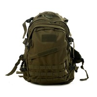 HDE Heavy Duty Lightweight Expandable 30L Outdoor Military Tactical MOLLE Assault Backpack (Army Green)