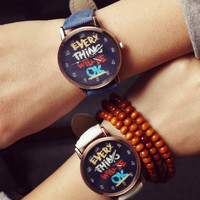 Comfortable Vintage Fashion Quartz Classic Watch Round Ladies Women Men wristwatch On Sales = 4662252548
