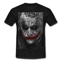 T-shirt Cool Joker Typograph Art Adult Unisex Black, Brown or Red Maroon Gildan Short Sleeves T-shirt, youth size available
