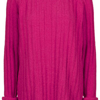Chenille Ribbed Jumper by Boutique - Bright Pink