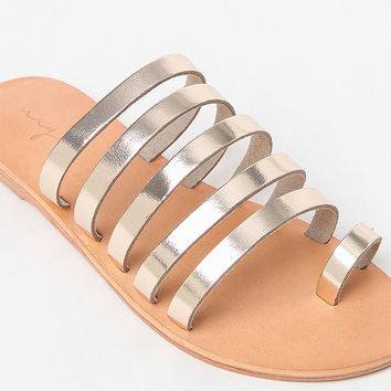 URGE Lea Multistrap Slide Sandals at PacSun.com