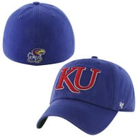 Kansas Jayhawks Franchise Fitted Hat - Blue
