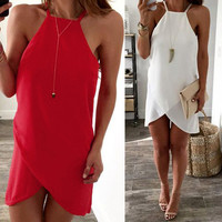 Sexy Women Summer Casual Sleeveless Party Evening Short Mini Dress