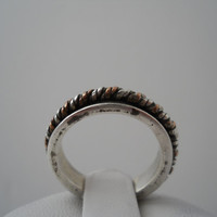 Sterling Silver 925 Spinner Ring Copper Silver Mix Size 5.5 925