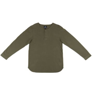Over Dyed Henley - Olive